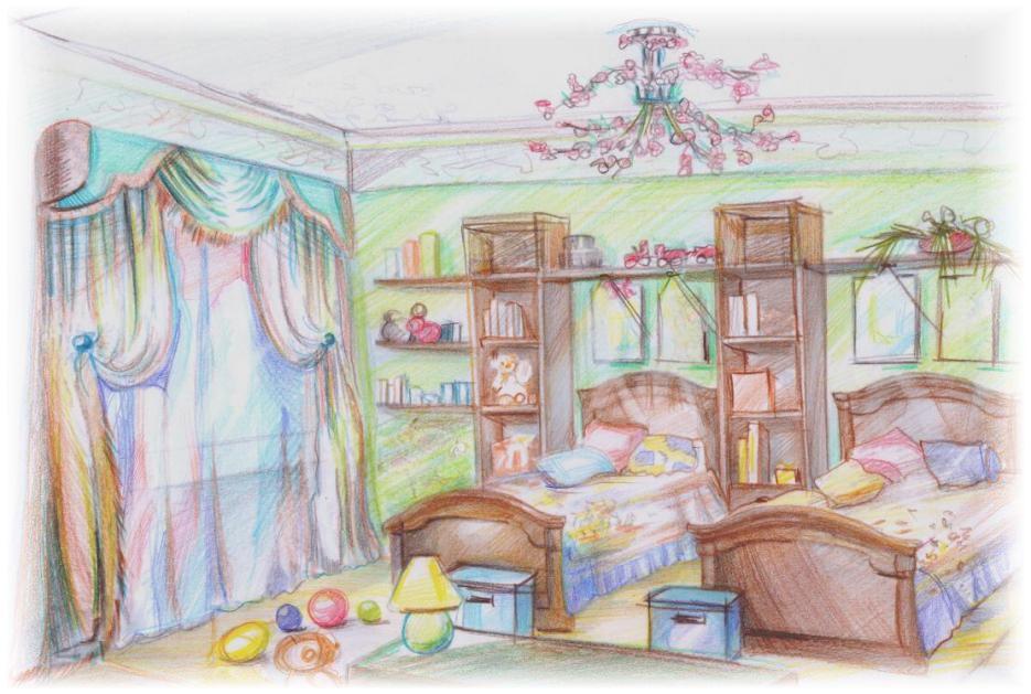 Рисунок моей комнаты для мальчика